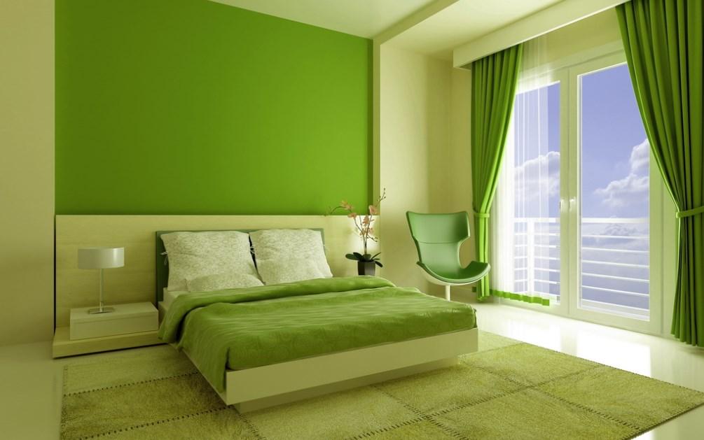 Интерьеры покрашенных комнат